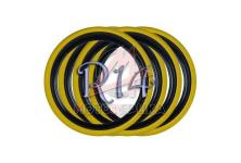 Флипперы Twin Color black-yellow R14 (4 шт.)
